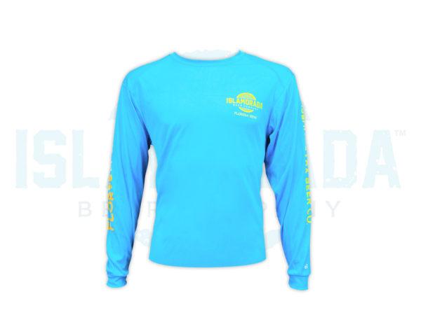 electric-blue-long-sleeve-fishing-shirt-man-front