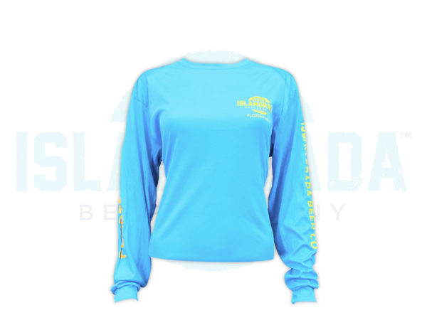electric-blue-long-sleeve-fishing-shirt-woman-front