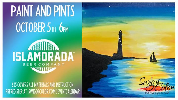 paint and pints sunset lighthouse islamorada beer company