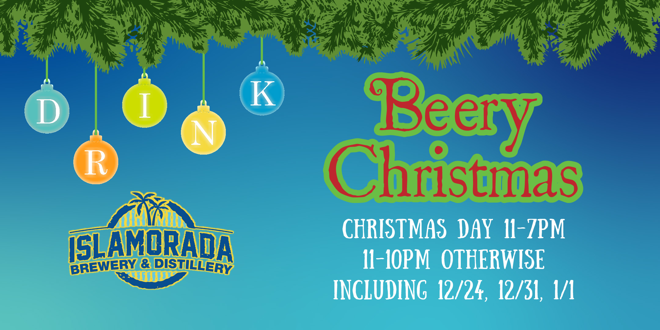 Christmas Hours Drinking Islamorada Brewery Distillery Florida Keys